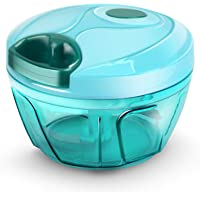 EVEN New Handy Mini Plastic Chopper with 3 Blades, Vegetable and Fruit Cutter (Two Different Blades)