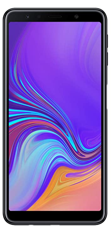 Samsung Galaxy A7(Black, 4GB RAM and 64GB Storage) Smartphones at amazon