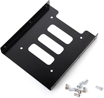 "5X Black 2.5/"" SSD to 3.5/"" Bay Hard Drive HDD Mounting Dock Tray Bracket Adapter"