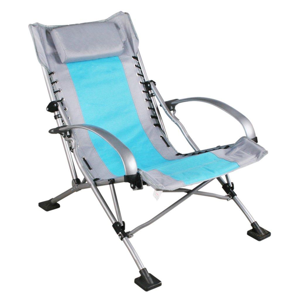 HM&DX Tragbare Outdoor Klappbare Stühle Heavy Duty Campingstühle Klappstuhl Mit Komfort Armlehne Kopfstütze Camping Wandern Strand Angeln Garten
