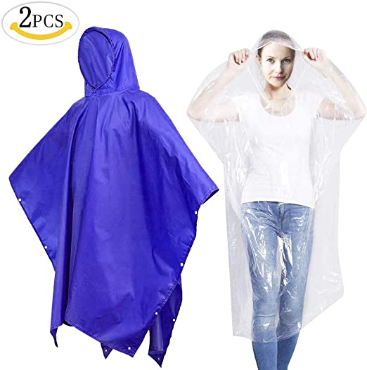 MMTX Impermeable Ponchos, 3 in1 Impermeable Poncho de Lluvia ...