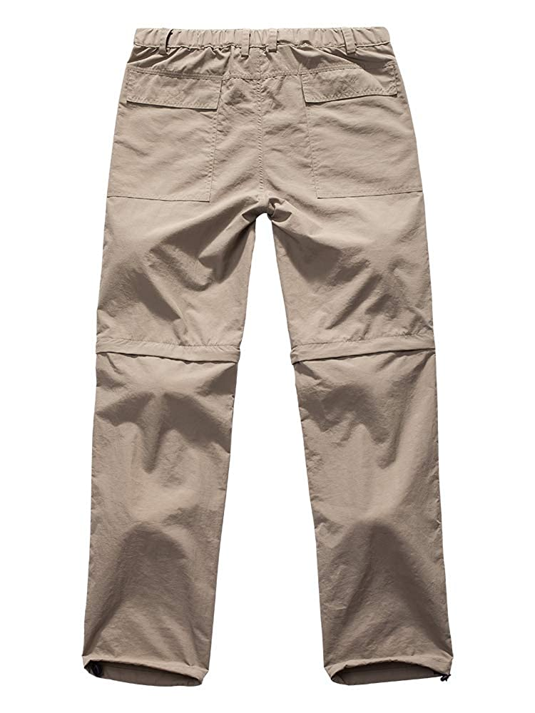 Toomett Mens Outdoor Anytime Quick Dry Convertible Lightweight Hiking Fishing Pants 6062,Khaki,US 42