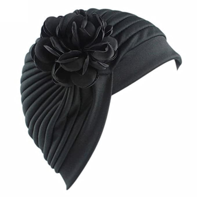 Women Stretch Flower Turban Hat Chemo Cap Hair Loss Scarf Headwear Wrap Beanie