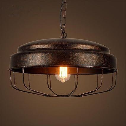 Lámparas de araña Lámpara de hierro colgante Pot cubierta de techo luces E27 cabeza sola estilo