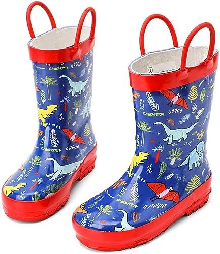 Rain Boots Kids Girl Cute Unicorn Printed Children/'s Rubber Waterproof Baby cold