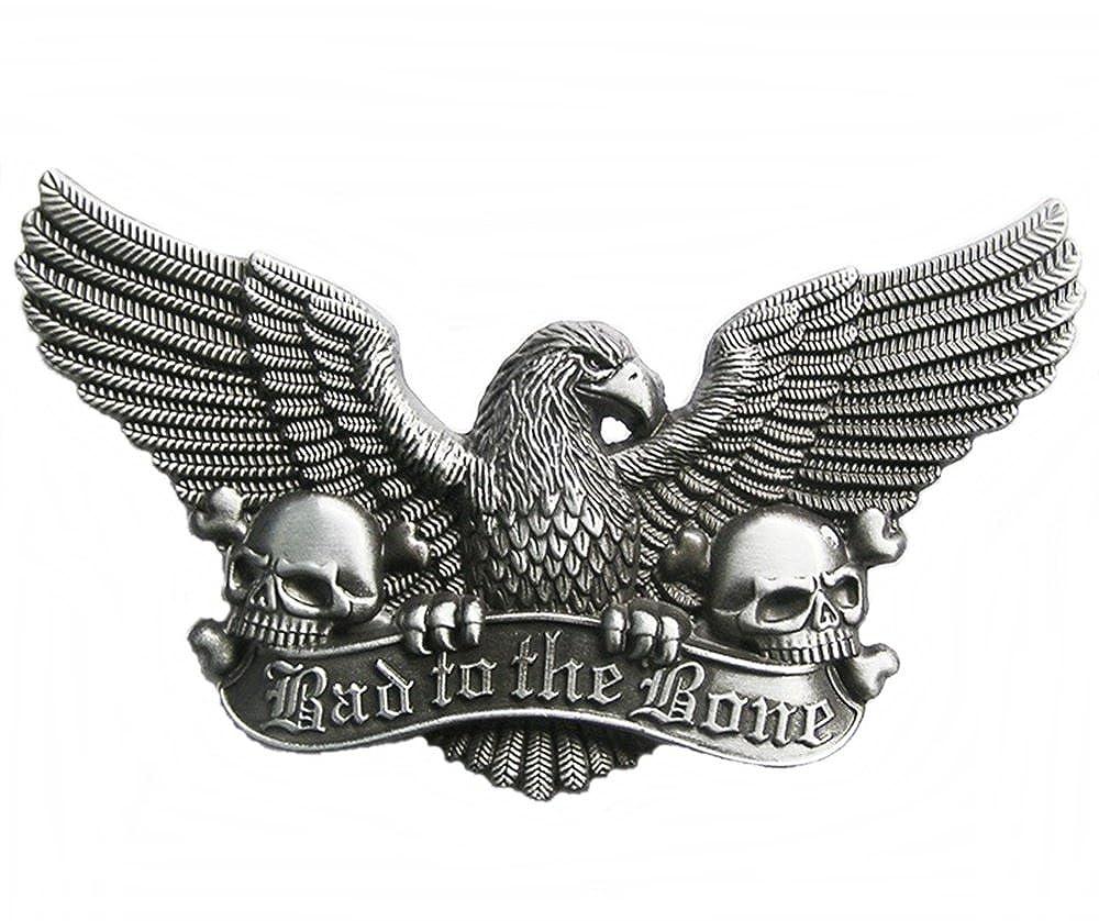 Biker Boucle - Bad to the Bone - Eagle   Skulls - Boucle de ceinture   Amazon.fr  Vêtements et accessoires 8f6468249fd