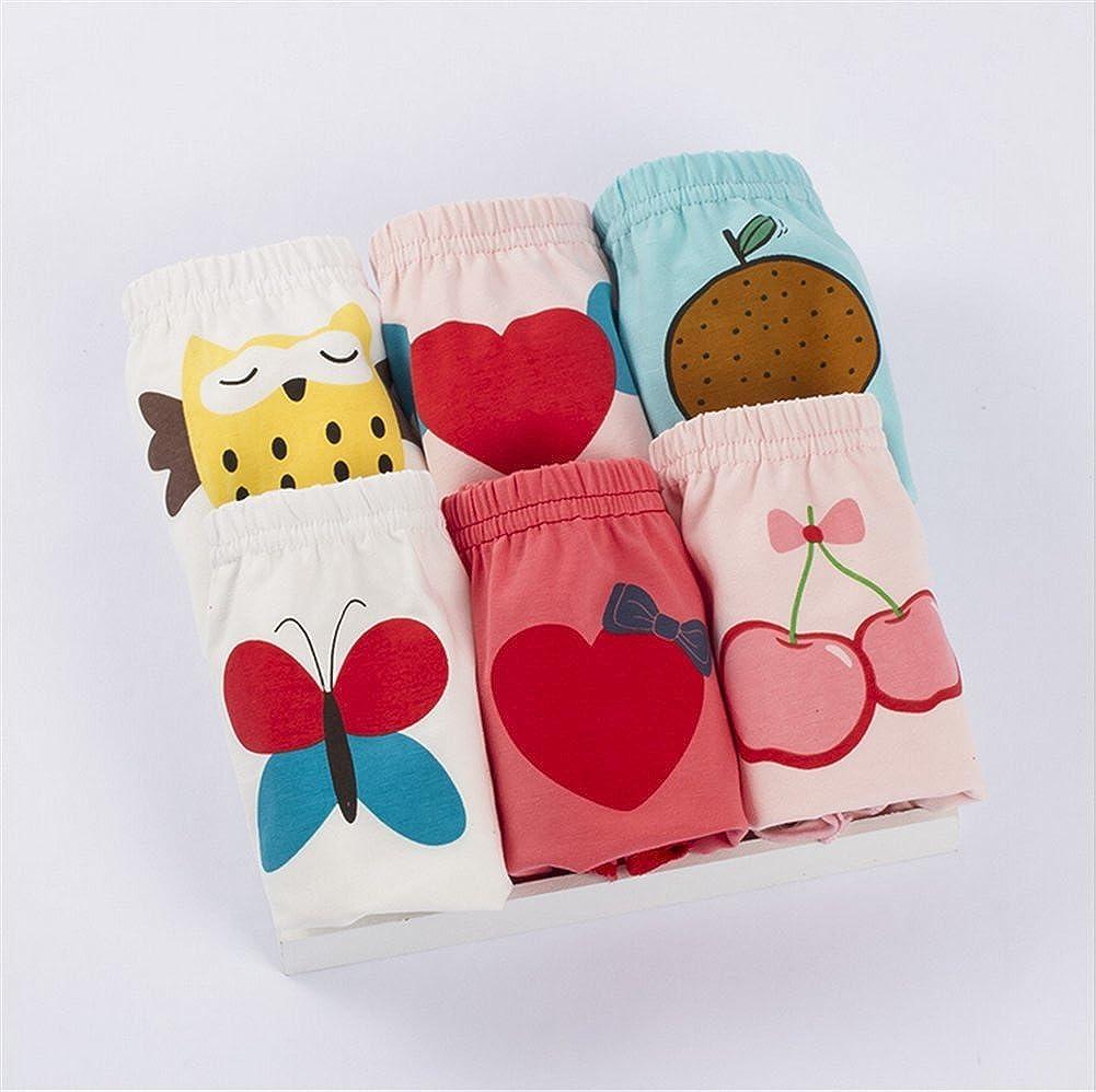 JIEYA 3-Pack or 6-Pack Baby Girls Toddlers Cotton Training Pants Briefs Underwear