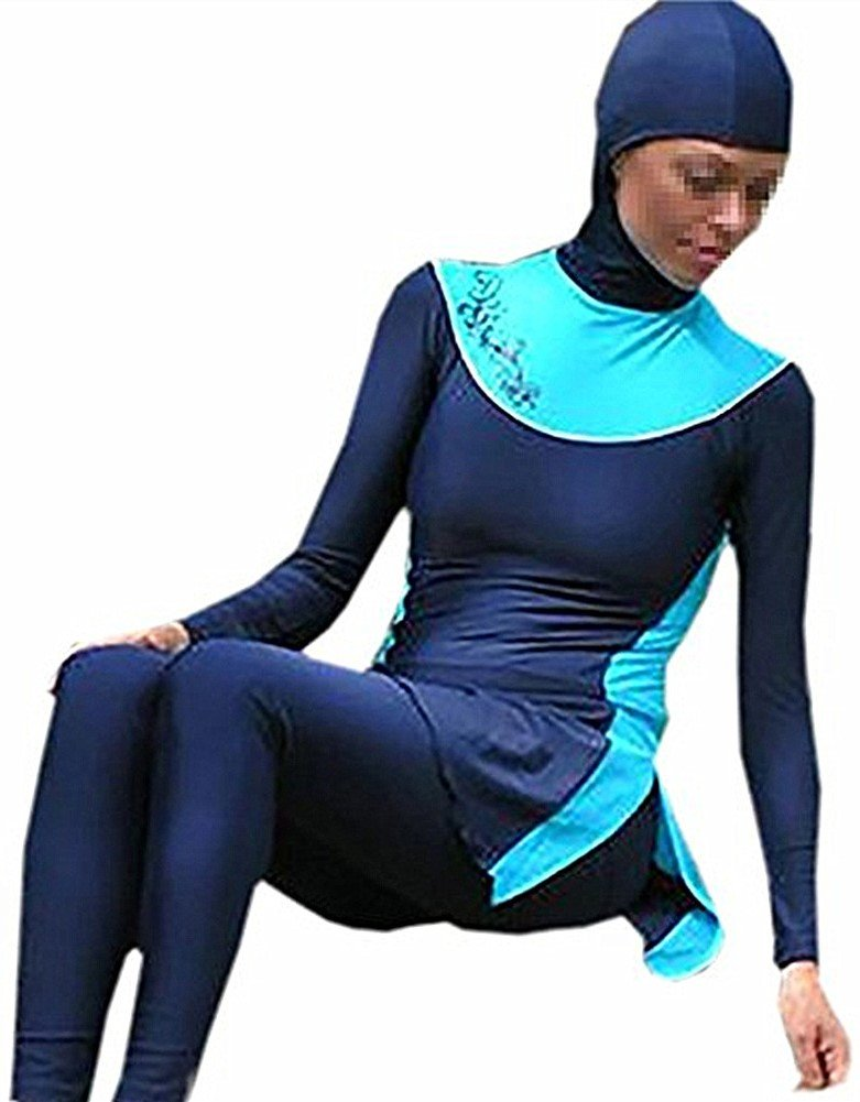 YEESAM New Muslim Modest Lady's Full Cover Beachwear Islamic Swimsuit