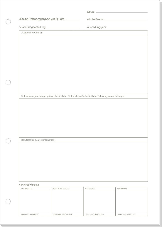 RNK Ausbildungsnachweis wöchentliche/monatliche Eintragung/5084