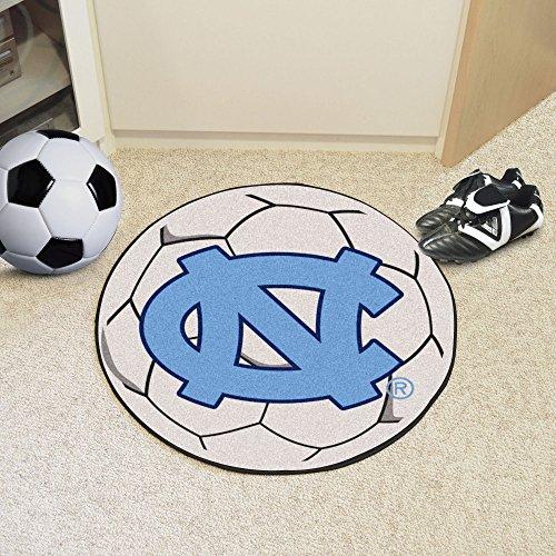 Fanmats Ncaa UNC University of North Carolina - Chapel Hill College Sports Fan Team Logo Printed Home Office Decorative Soccer Ball Shaped Area Rug Welcome Floor Mat (Ball University Soccer Rug)