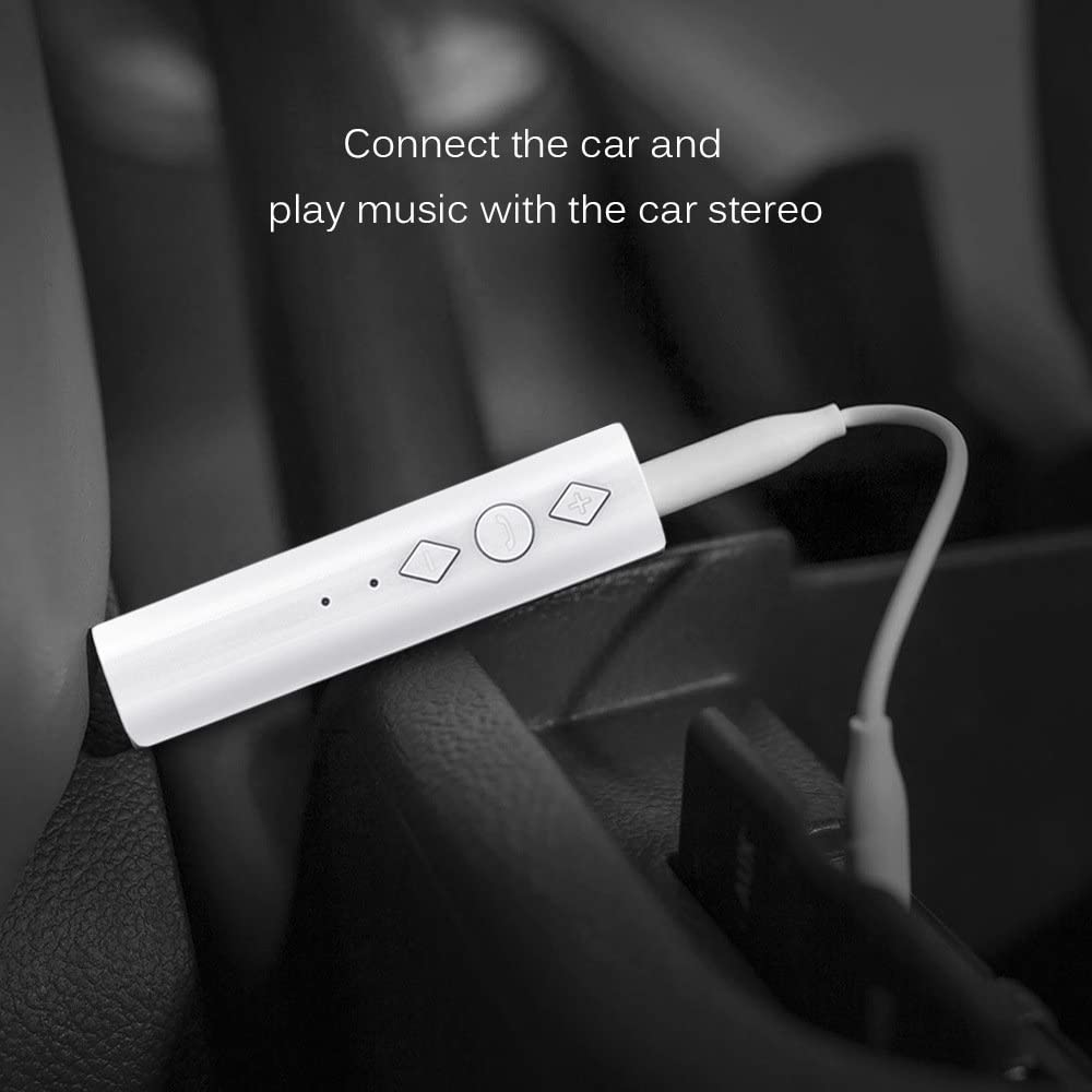 Mini 3.5mm AUX Wireless Audio Adapter for Headphones Car Speakers//Home Stereo Music Sound System KOEA Bluetooth 5.0 Portable Hands-Free Audio Receiver Car Kits Bluetooth Adapter Receiver Black