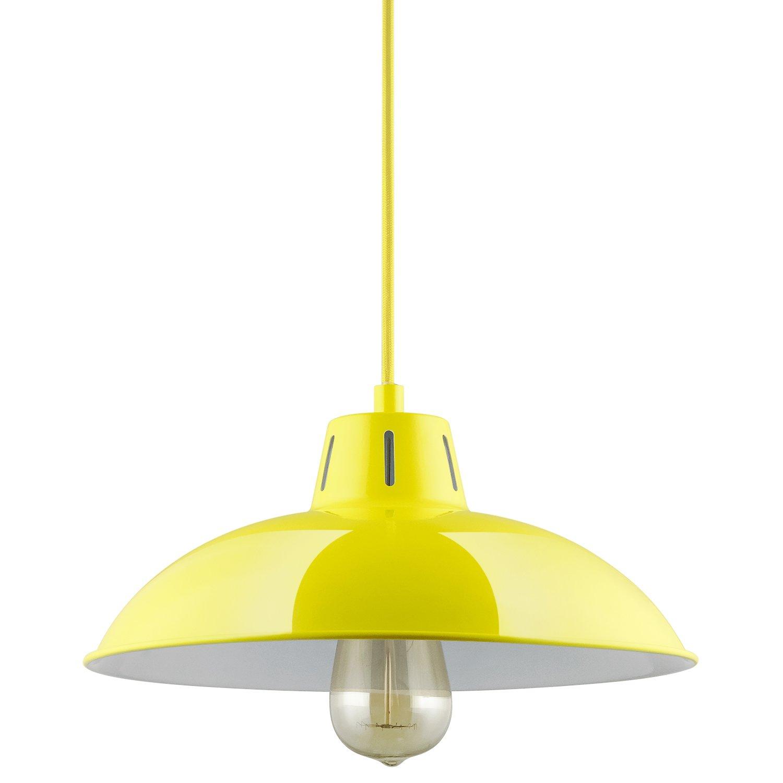 Amazon com sunlite cf pd v y yellow vega residential ceiling pendant light fixtures with medium e26 base home improvement