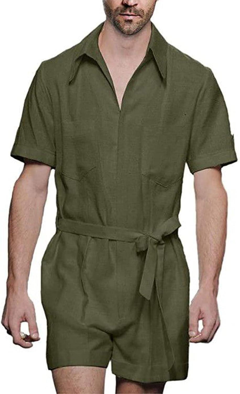 LouVasabuce Men Ranking TOP6 's Large special price !! Summer Romper Sleeve Short Print Stripe Jumps
