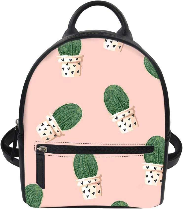 Blooming Cactus Cacti Succulents Abstract School Backpack Laptop Backpacks Casual Bookbags Daypack for Kids Girls Boys and Women