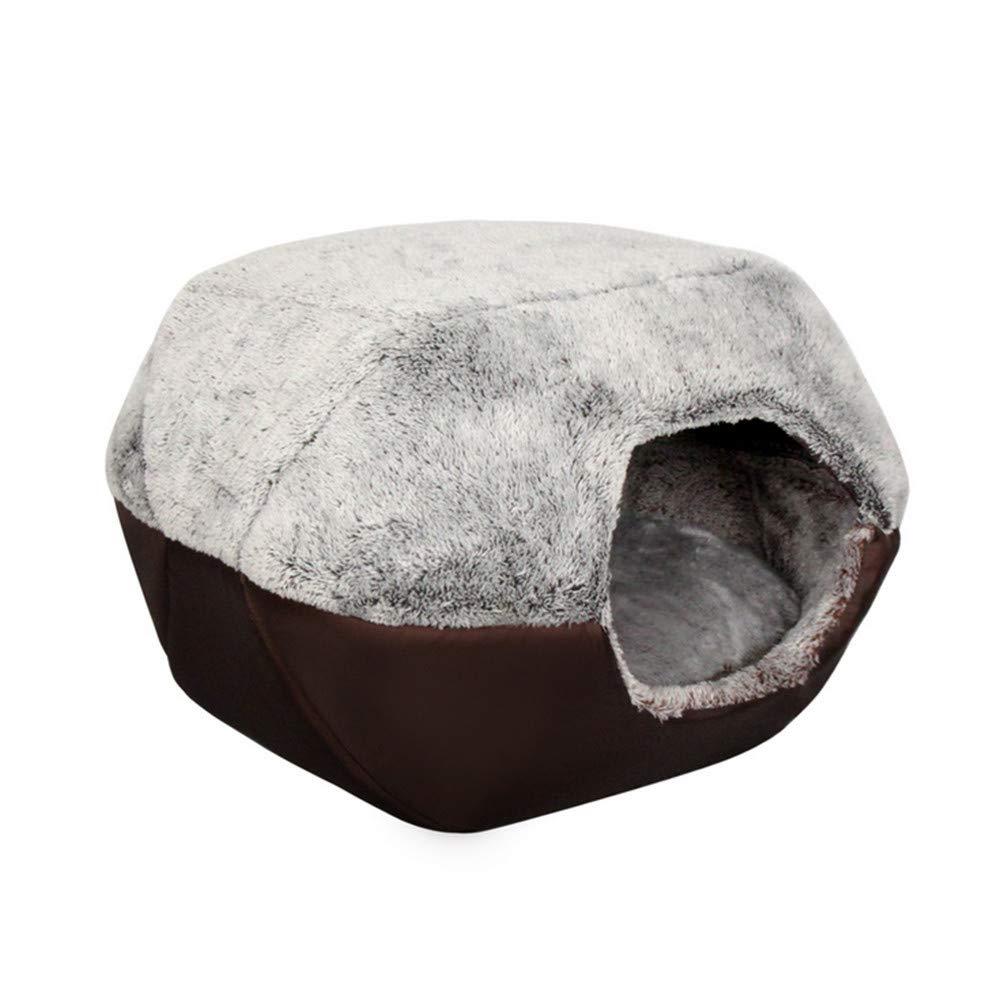 Mzdpp Gato Mascota Iglú Cueva Perro Cama Nido Comodidad Colchón Dos Usos 52X45X41Cm: Amazon.es: Productos para mascotas