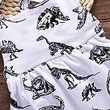 Unmega Baby Girl Dinosaur Dress Sleeveless Backless
