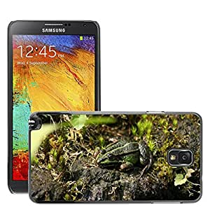 Etui Housse Coque de Protection Cover Rigide pour // M00113340 Rana Jardín Estanque Agua // Samsung Galaxy Note 3 III N9000 N9002 N9005