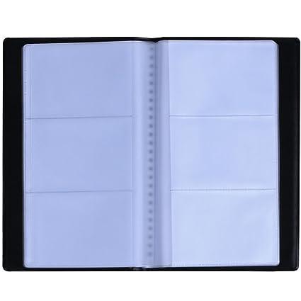 Zacro Visitenkartenmappe Für 120 Karten Ideal Für Büro Und Praxis Visitenkartenbuch Visitenkarten Kreditkarten Schwarz