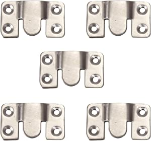 Eyourlife Flush Mount Bracket Interlocking Furniture Connector, Heavy Duty Stainless Steel Photo Frame Hook Picture Hanger for Large Picture Display Art Gallery Wall Mount Hardware (5 Pairs)