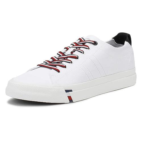 Tommy Hilfiger Hombres Blanco Dino 1D Zapatillas-UK 10.5: Amazon.es: Zapatos y complementos