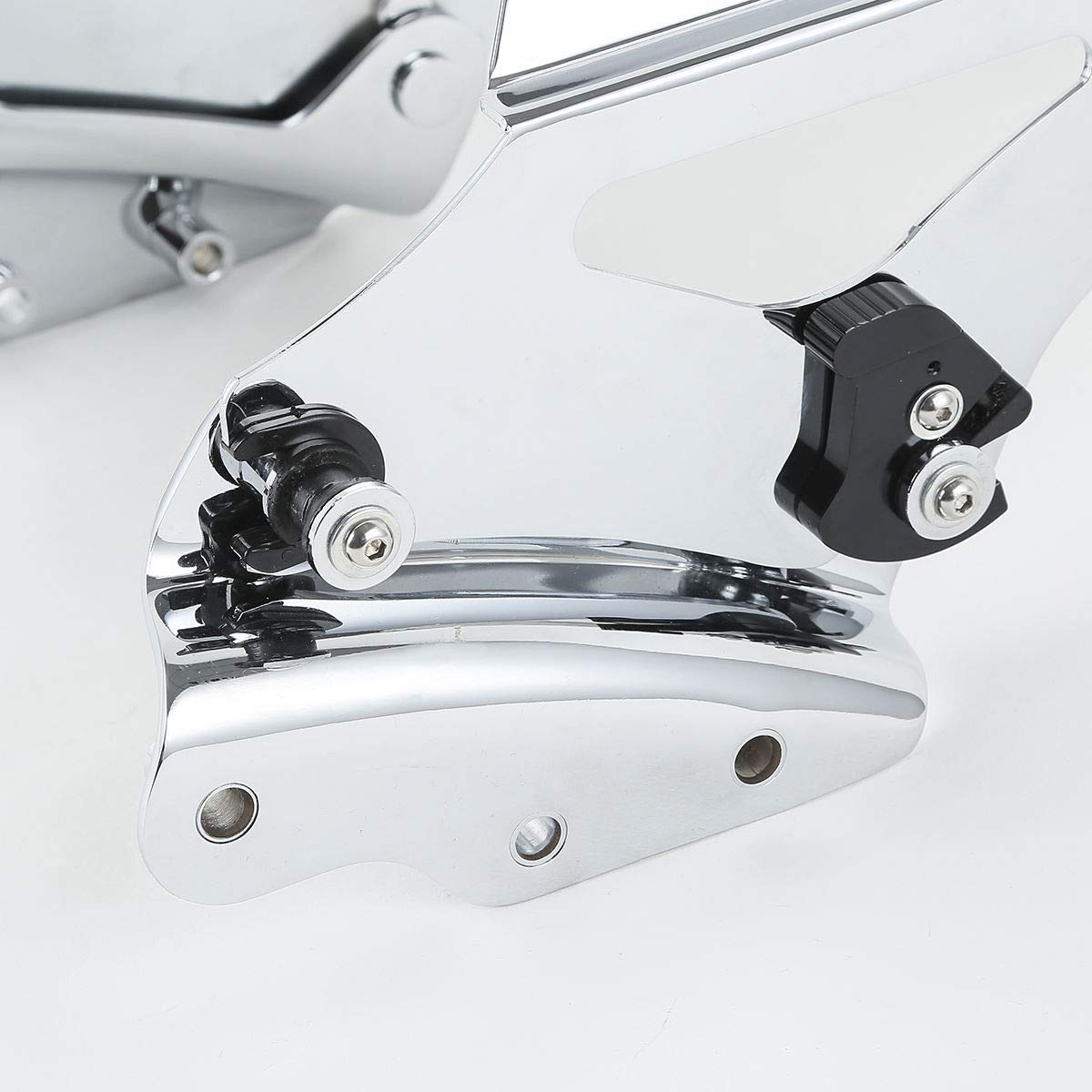 Chrome 4 Point Docking Hardware Fits For Harley Touring 09-13 TCMT Detachable Two Up Tour Pak Pack Mounting Luggage Rack