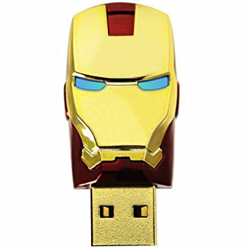 Iron Man Mascara de Avengers Metal 16GB Usb 2.0 Memoria USB Flash Drive Rojo