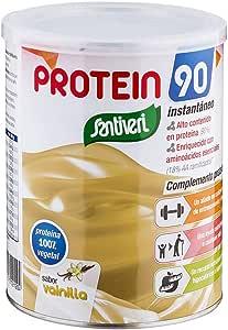 Protein 90 de Santiveri para deportistas (Vainilla) Bote de 200 gr: complemento alimenticio para deportistas a base de proteínas, aminoácidos y vitaminas. Apto para veganos: Amazon.es: Salud y cuidado personal