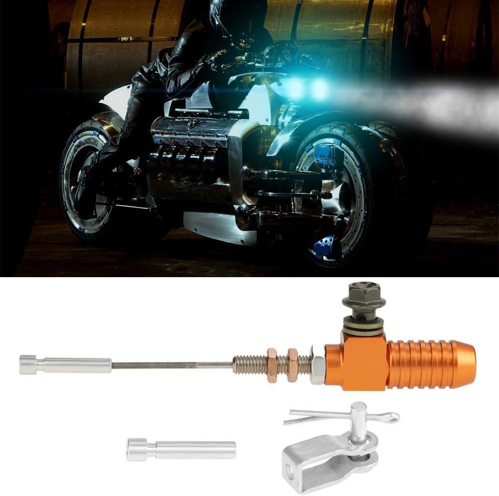 Qiilu M10x1 25mm Universal Motorrad Hydraulische Kupplung Hauptbremszylinder Stange Bremspumpe Für Dirt Bike Pit Bike Atv Quad Roller Motorrad Orange Auto