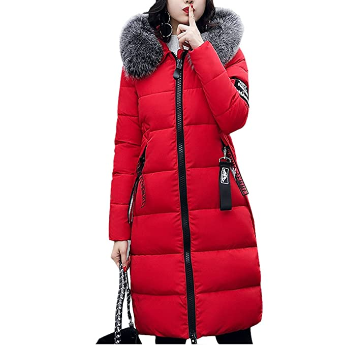 55d0ce667 Yi Yaang Womens Winter Casual Hoodie Coat Military Jacket Parkas Long  Trench Overcoat