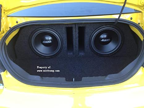 Compatible with 2010-2013 Chevy Camaro Ls Lt Ss Dual 12 Subwoofer Enclosure Speaker Sub Box New