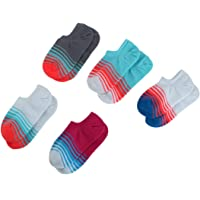 uxcell Lady Cotton Blends Stripe Pattern Exercise Workout Casual Athletic Low Cut Compression Sport Ankle Socks