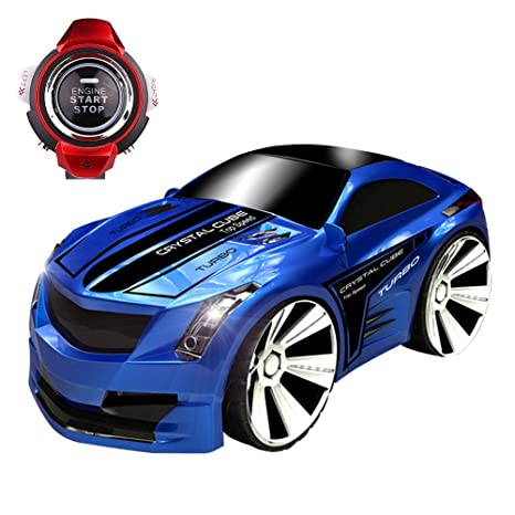f6cd896fc0d Amazon.com  SZJJX Voice Command RC Car Rechargeable 2.4Ghz 6CH Smart Watch  Radio Control Creative Voice Activated Racing Cars Remote Control Vehicles  Truck ...