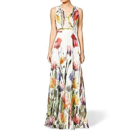 Fashion Vestidos 2016 Summer Floral Print Long Maxi Dress Deep V Neck Sleeveless Women Sexy Casual