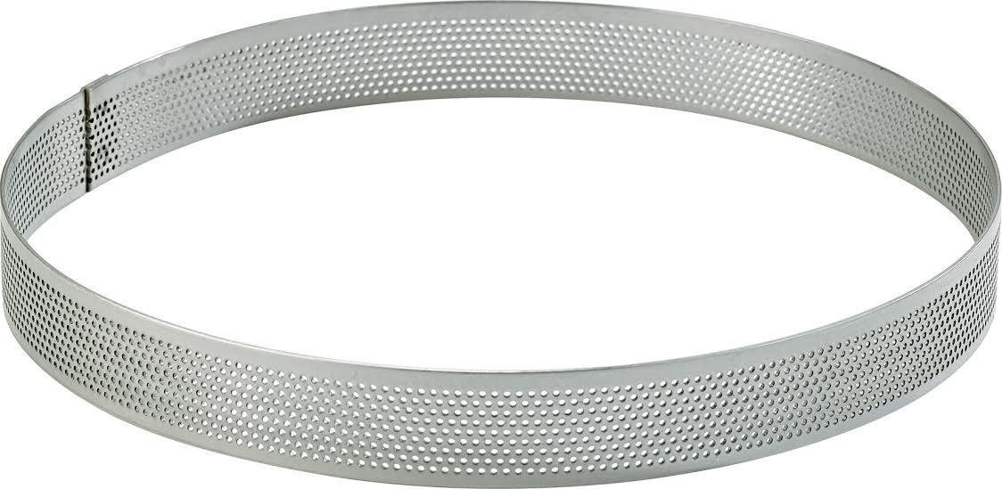 Cuisineonly-Cerchio in acciaio Inox con fori, ø 26 cm, altezza 2 cm, .. cucina: intorno al cerchio da pasticceria, in acciaio Inox, Nonettes)