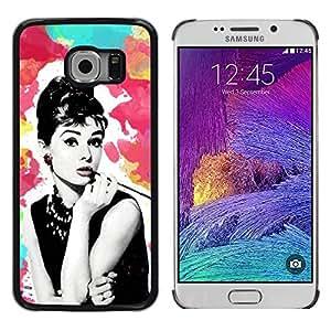 Exotic-Star ( Star Vintage Retro Movies 60'S Cinema ) Fundas Cover Cubre Hard Case Cover para Samsung Galaxy S6 EDGE / SM-G925 / SM-G925A / SM-G925T / SM-G925F / SM-G925I