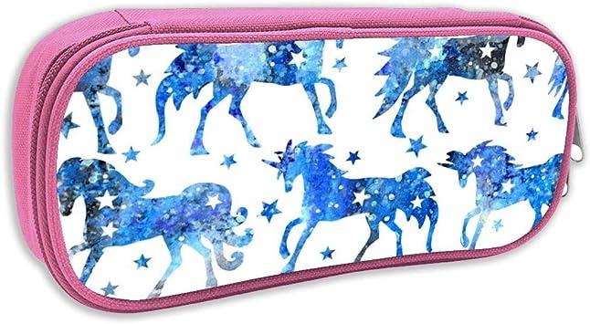 Estuche de lápices Infantil,Acuarela Azul Galaxy Unicornios, Rosa: Amazon.es: Juguetes y juegos