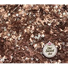 EDIBLE GLITTER Pick Up your COLOR 1/4 oz. flakes, stars, for cakes,for cupcakes, for cookies By Oh Sweet Art (Copper Stars)