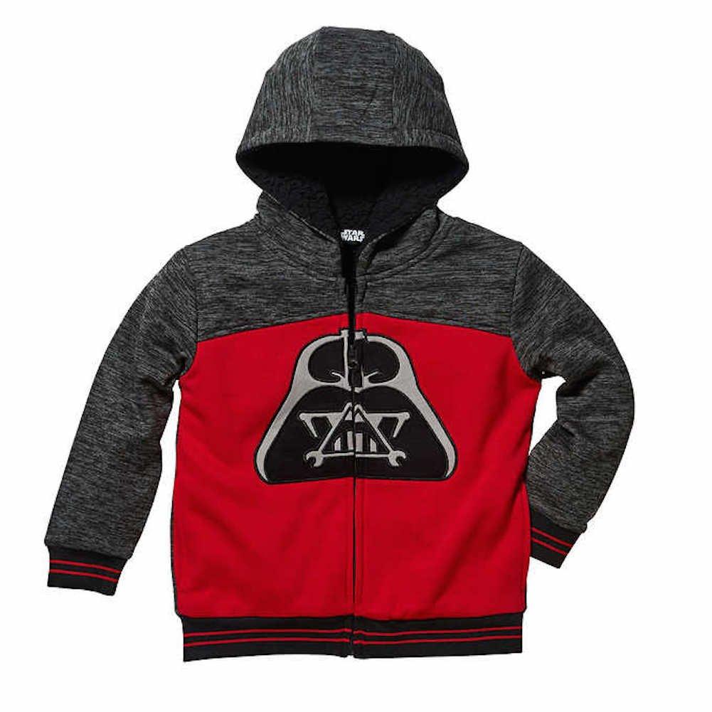 Disney Star Wars Boys Lined Full Zip Jacket 7