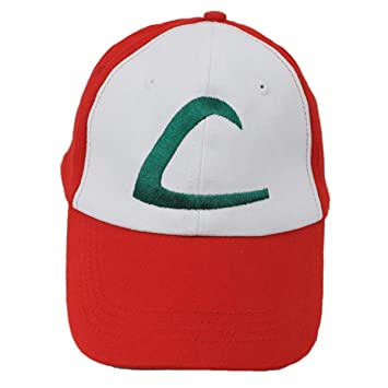Pokemon ASH KETCHUM Trainer Costume Cosplay Baseball Hat Cap Summber Sun  Kids Adjustable Up to 61CM 3ddaf4a145