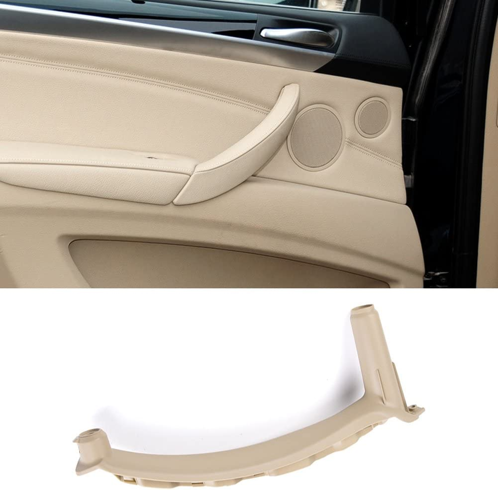 Fits:BMW X5 2008-2013 and BMW X6 2008-2014 Inner Door Trim Grab Cover Left Rear Door Armrest Bracket Jaronx for BMW X5 X6 Door Pull Handle Leather Cover NOT Inculded