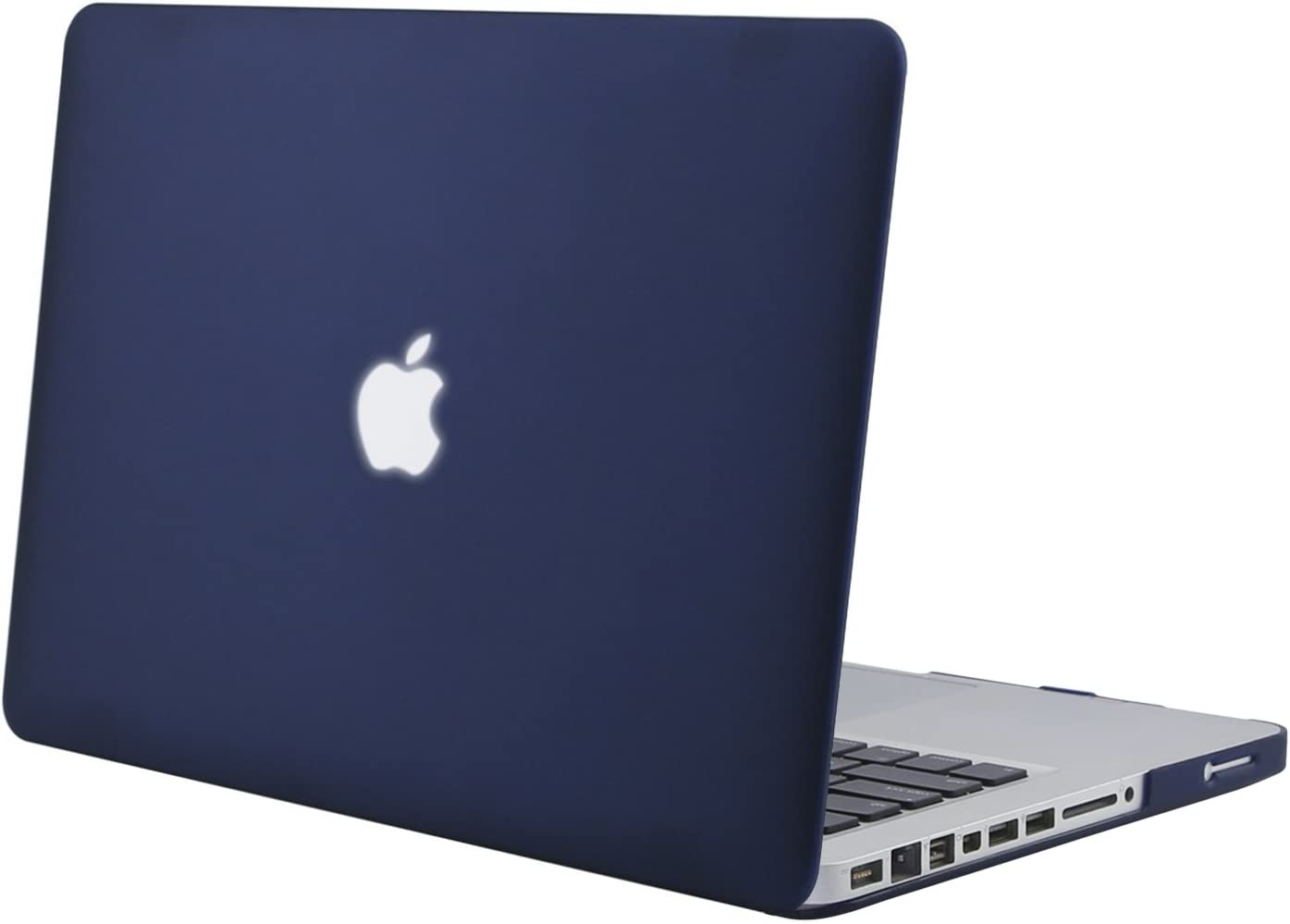 MOSISO Plastic Hard Shell Case Cover Only Compatible with Old Version MacBook Pro 13 Inch (Model: A1278, with CD-ROM), Release Early 2012/2011/2010/2009/2008, Navy Blue