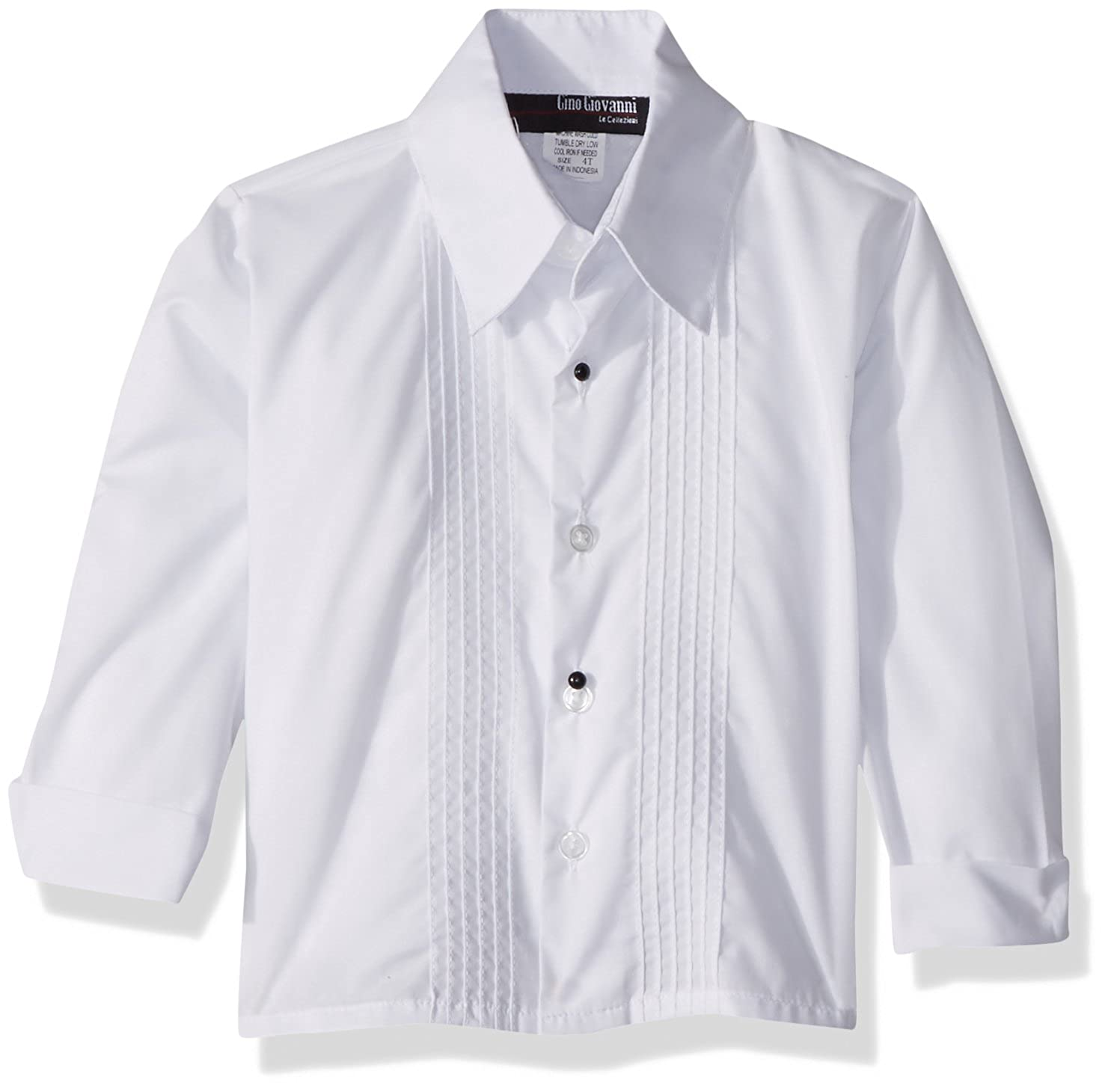 Gino Giovanni Boys Formal Long Sleeve Tuxedo Shirt