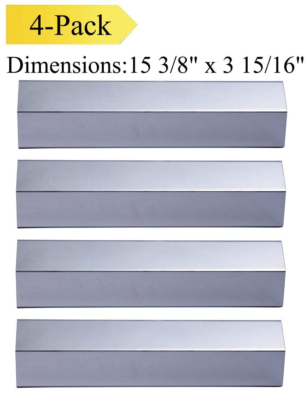 Votenli S9231A(4-Pack) Stainless Steel Heat Plate, Heat Shield for Aussie, Brinkmann, Uniflame, Charmglow, Grill King, Lowes Model Grills by Votenli