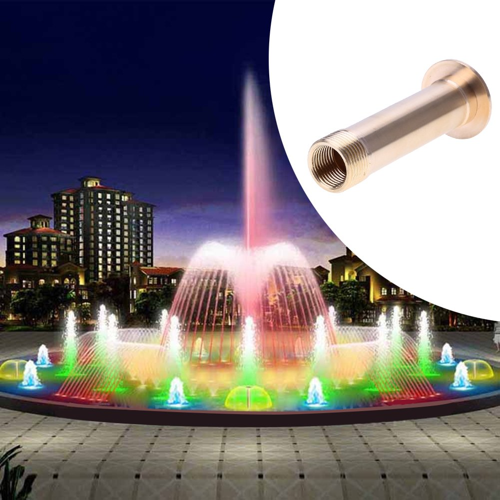 RedSonics(TM) 1/2inch 3/4inch Fountain Nozzle Brass Pond Hemispherical Pond Spray Head Garden Watering Kits Landscape Nozzle
