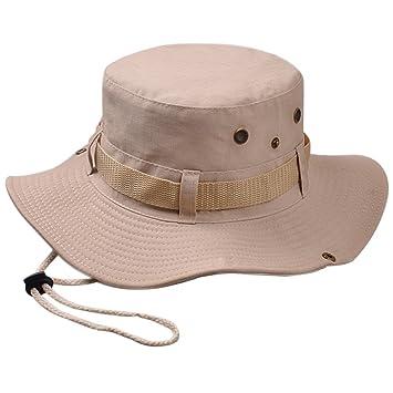 ee7e7188e767b Isend Sombrero Unisex Sombrero Pescador UPF 50+ Sombreros para El Sol de  ala Ancha Plegable y Impermeable para Safari