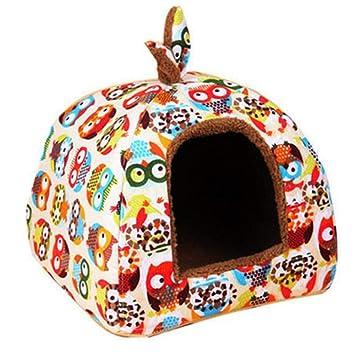 Urase para Perros Gato Cueva Caseta Perro Cama Gato Cama Perros Casa Mascotas Zwinger Matte Cojín extraíble para pequeñas Mascotas Perro Gatos: Urase: ...