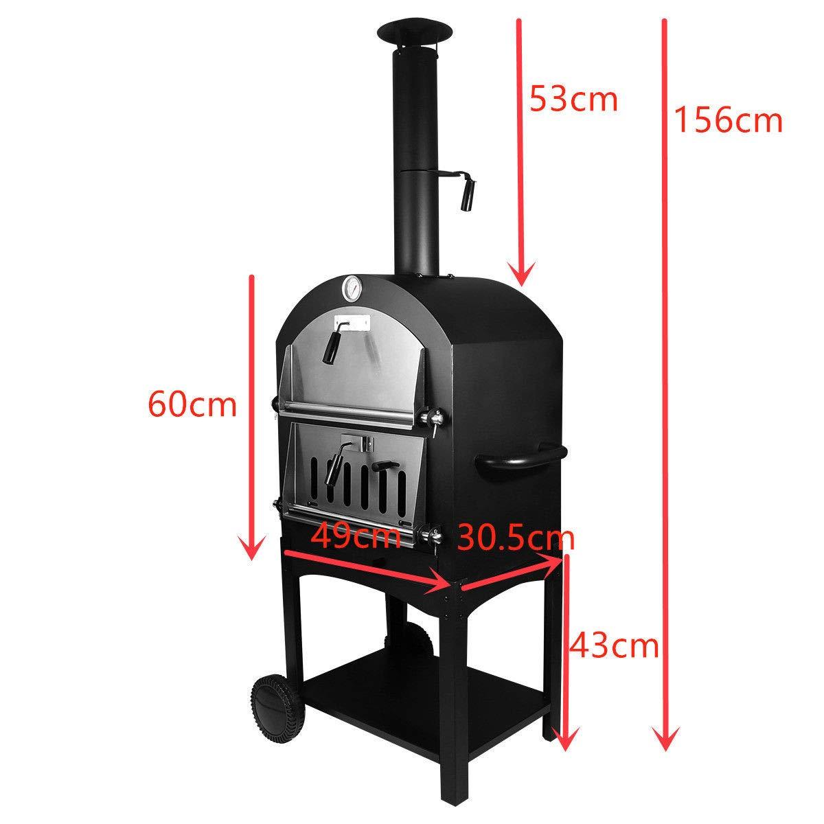Amazon.com: Lapha - Parrilla para horno de pizza de madera ...