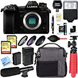 Panasonic Lumix DC-G9 Mirrorless Micro Four Thirds Digital Camera Body + 64GB Dual Memory & Microphone Deluxe Bundle