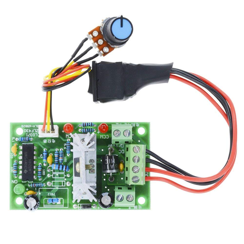 Aideepen 6 30v Pwm Dc Motor Speed Controller Reversible With Forward Reverse Control Operation And Circuits Switch 6v 12v 24v Variable Regulator Industrial
