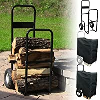 Sunnydaze Firewood Log Cart or Cart with Cover